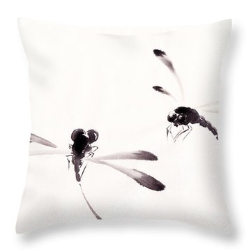 Dance Of The Dragonflies Throw Pillow