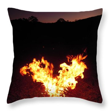 Fire In Your Heart Throw Pillow by Ankya Klay