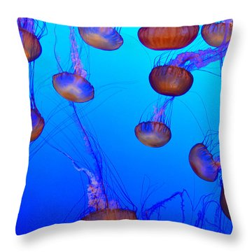 Dance Of The Jellyfish Throw Pillow