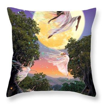 Dance Of The Moon Fairy Throw Pillow