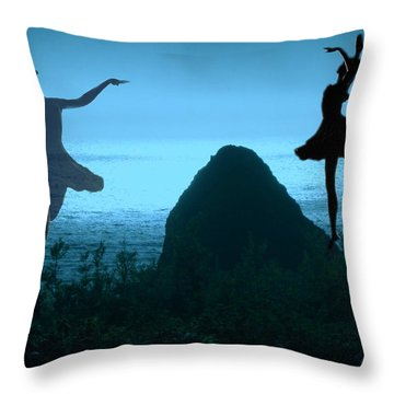Dance Of The Sea Throw Pillow by Joyce Dickens