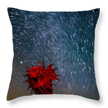 Dance Of The Star Serpent Throw Pillow by Tassanee Angiolillo