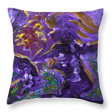 Dance Of The Sugar Plum Fairies Throw Pillow by Donna Blackhall