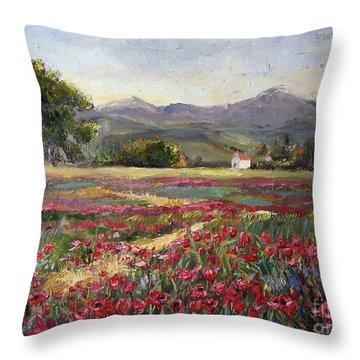 Dance Of The Tulips Throw Pillow by Jennifer Beaudet