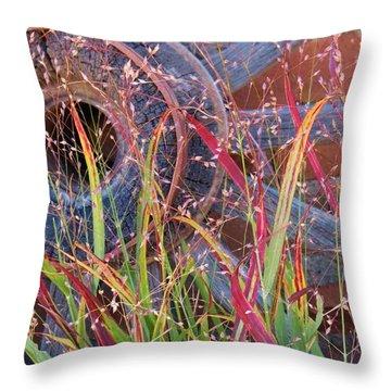 Dance Of The Wild Grass Throw Pillow by Feva  Fotos