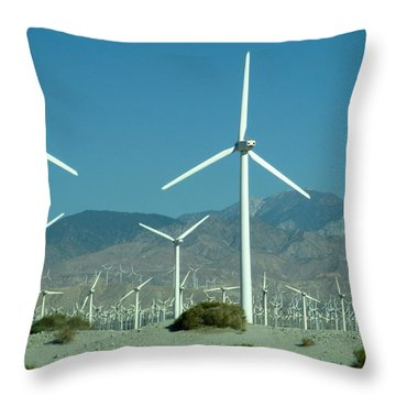 Dance Of The Wind Turbines Throw Pillow
