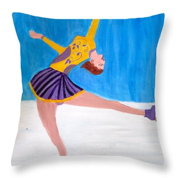 Dance On Ice Throw Pillow