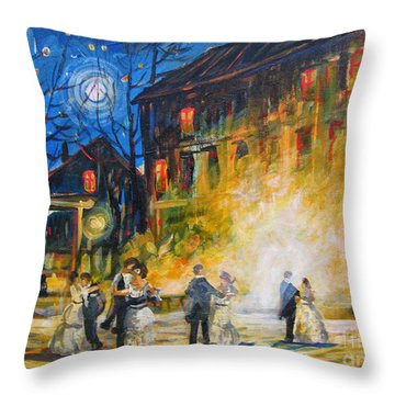 Dance The Night Away Throw Pillow
