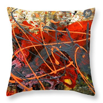 Dance With Dragons Throw Pillow by Leon Zernitsky