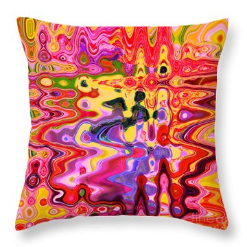 Dance With Me		 Throw Pillow by Ann Johndro-Collins