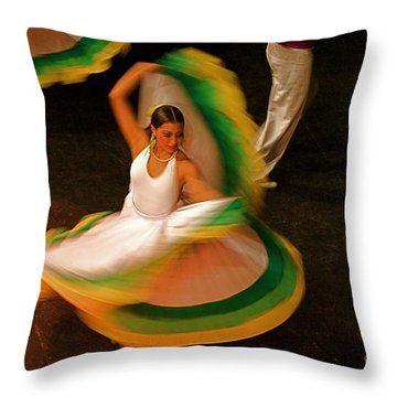 Dancer 1 Throw Pillow by Nicola Fiscarelli