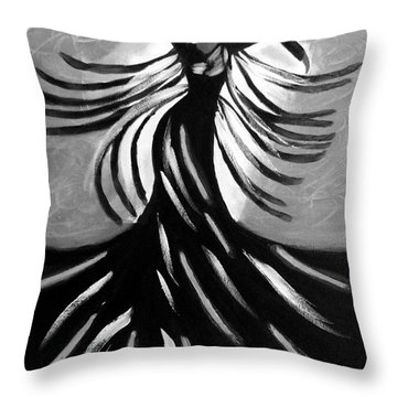 Throw Pillow featuring the painting Dancer 2 by Anita Lewis