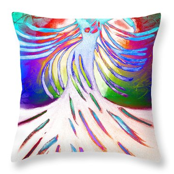 Throw Pillow featuring the painting Dancer 4 by Anita Lewis
