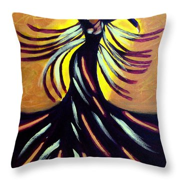 Throw Pillow featuring the painting Dancer by Anita Lewis