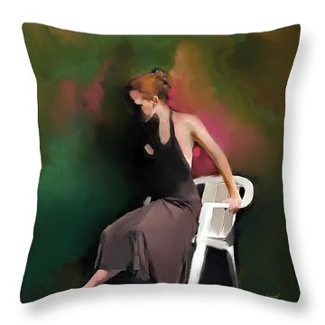 Dancer At Rest Throw Pillow