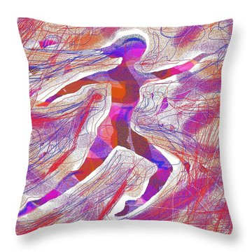 Dancer Forward Throw Pillow