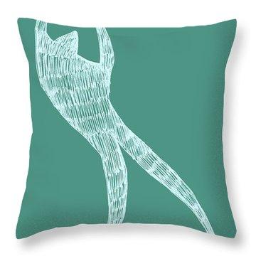 Dancer Throw Pillow by Michelle Calkins