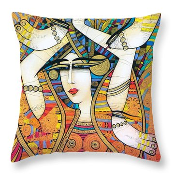 Dancer With Doves Throw Pillow
