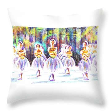 Dancers In The Forest II Throw Pillow by Kip DeVore
