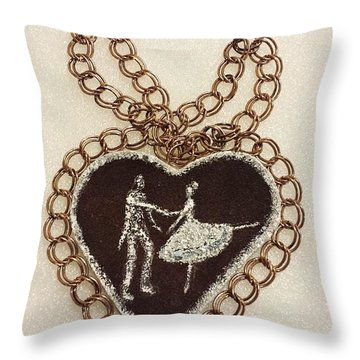 Dancers Throw Pillow by Jasna Gopic