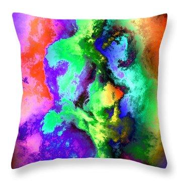 Dancers Throw Pillow by Kurt Van Wagner
