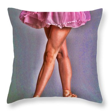 Dancer's Legs Throw Pillow