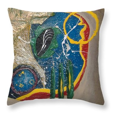 Dances With Aliens Throw Pillow by Steve  Hester