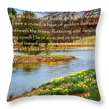 Dances With The Daffodils Throw Pillow