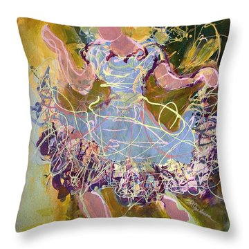 Dancing 1 Throw Pillow by Marilyn Jacobson