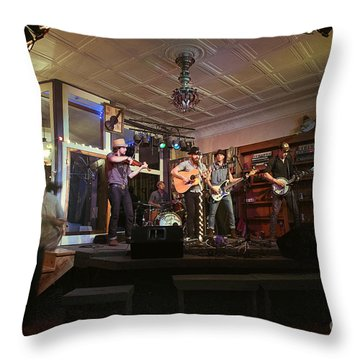 Dancing At The Purple Fiddle With Bryan Elijah Smith And The Wild Heart Band  Throw Pillow by Dan Friend