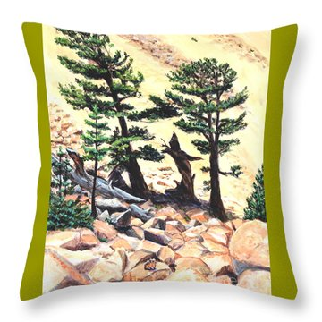 Dancing Bristlecone Throw Pillow