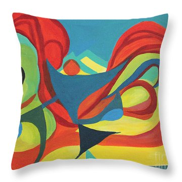 Dancing Child Throw Pillow