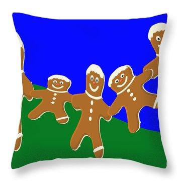 Dancing Cookies Throw Pillow