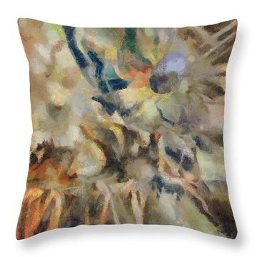 Throw Pillow featuring the digital art Dancing Dreams by Joe Misrasi