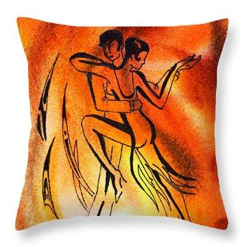 Dancing Fire Iv Throw Pillow by Irina Sztukowski