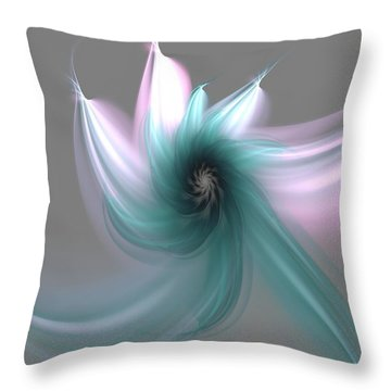 Dancing Flower Throw Pillow