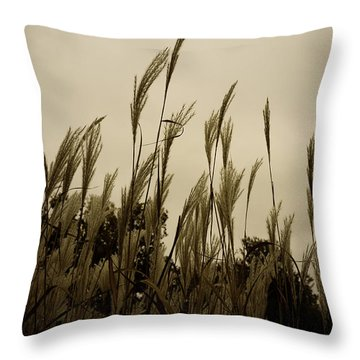 Dancing Grass Throw Pillow