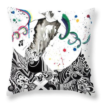 Dancing In Berlin Throw Pillow by Oddball Art Co by Lizzy Love