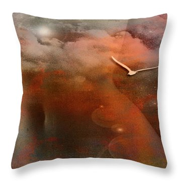 Dancing In Clouds... Throw Pillow by Nina Stavlund