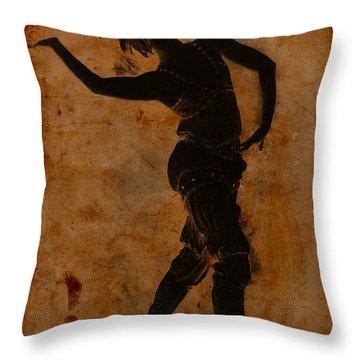 Dancing In Greek Throw Pillow by Sarah Vernon