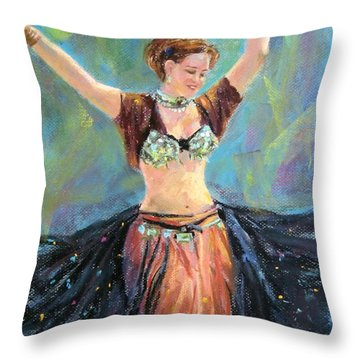 Dancing In The Air Throw Pillow