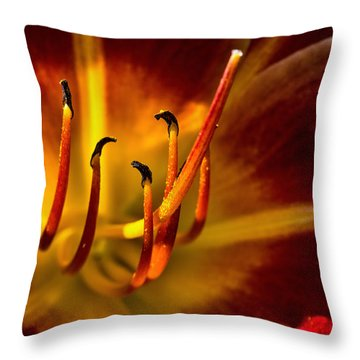 Dancing In The Flames Throw Pillow