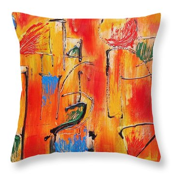 Dancing In The Heat Throw Pillow by Jason Williamson