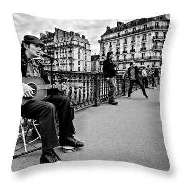 Dancing In The Streets Of Paris / Paris Throw Pillow