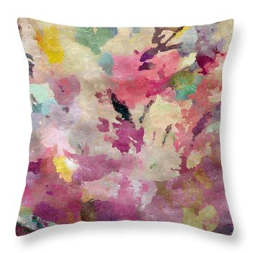 Dancing In The Wind Throw Pillow by Cindy McClung