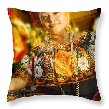 Dancing Lady Throw Pillow
