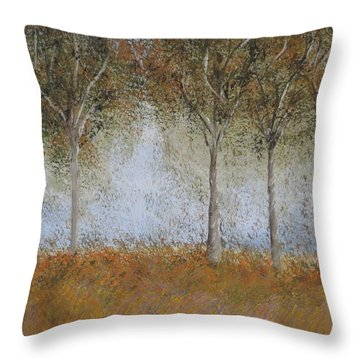 Dancing Leaves Throw Pillow by Tim Townsend