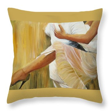 Dancing Legs Throw Pillow