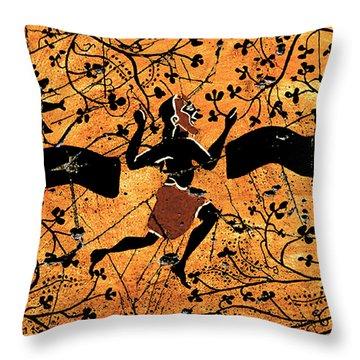 Dancing Man - Study No. 1 Throw Pillow by Steve Bogdanoff