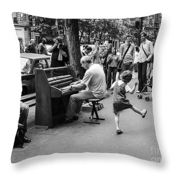 Dancing On A Paris Street Throw Pillow